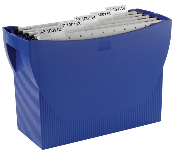 Hängemappenbox SWING, für 20 Hängemappen, blau