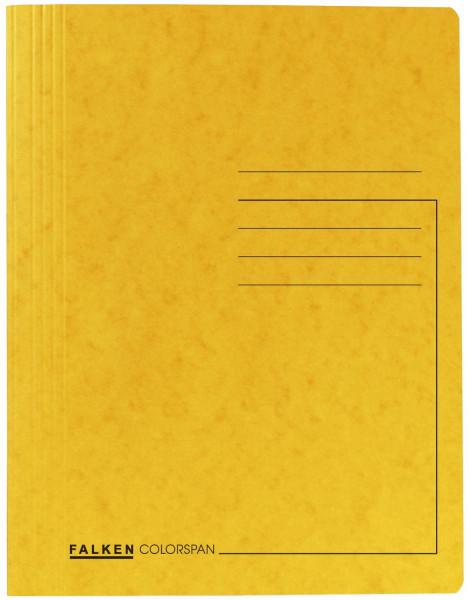 Falken Schnellhefter Colorspankarton DIN A4, gelb
