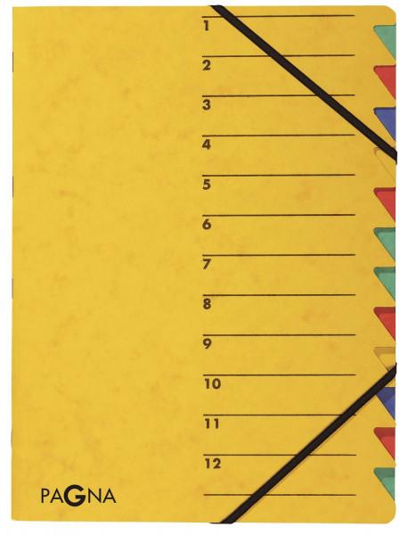 Ordnungsmappen EASY - mit 12 Fächern, gelb