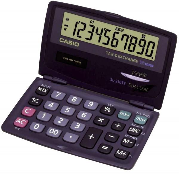 Casio® Solar-Taschenrechner SL-210TE, Größe: 120 x 73 x 12,5 mm
