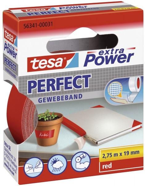 Gewebeklebeband extra Power Gewebeband, 2,75 m x 19 mm, rot