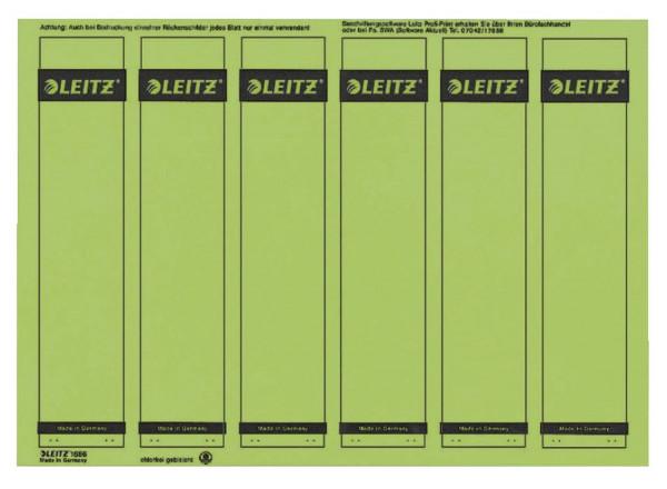 1686 PC-beschriftbare Rückenschilder - Papier, kurz/schmal, 150 Stück, grün