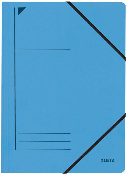 Leitz 3980 Eckspanner, blau, A4, Füllhöhe 250 Blatt, Pendarec-Karton