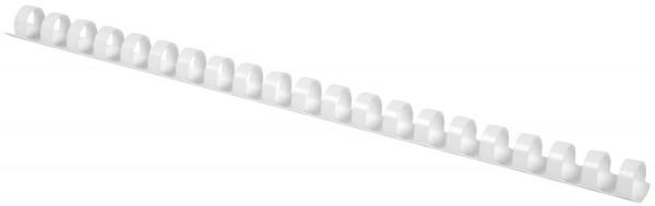 Plastik-Binderücken, 10 mm, für 65 Blatt, weiß, 100 Stück