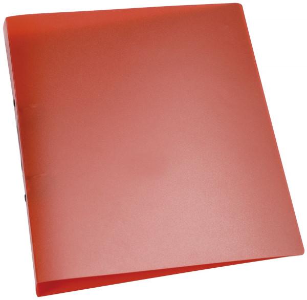 Q-Connect Ringbuch rot-transparent - A4, 2-Ring, Ring-Ø 25 mm