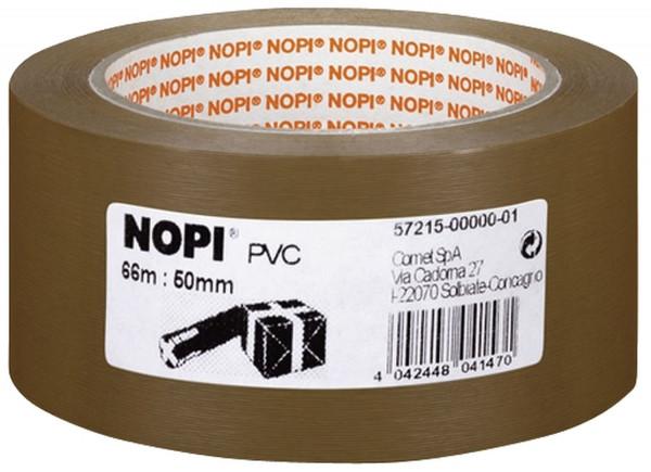Nopi Packband 50 mm x 66 m, braun PVC