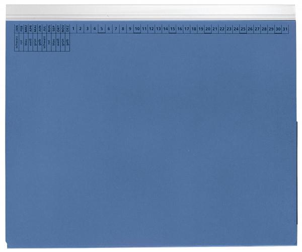 Kanzleihefter A gefalzt blau - Linksheftung (Behördenheftung), 1 Tasche, 1 Abheftvorrichtung,