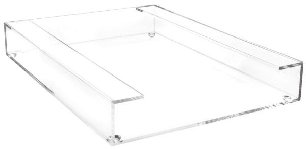 Acryl-Briefablage, DIN A4 bis C4-Formate, 260 x 56 x 350 mm, glasklar