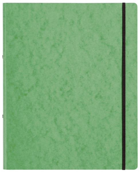Ringbuch Pressspan - A4, 2-Ring, Ring-Ø 16mm, Gummizug, grün