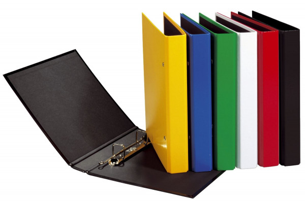 Ringbuch Basic Colours - A5, 2-Bügel-Mechanik, Ring-Ø 20mm, schwarz