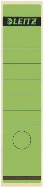 1640 Rückenschilder - Papier, lang/breit, 100 Stück, grün