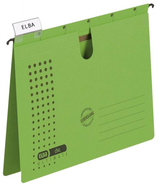 Hängehefter chic ULTIMATE® - Karton (RC), 240 g/qm, A4, grün, 5 Stück