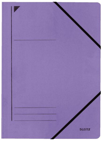 Leitz 3980 Eckspanner, violett, A4, Füllhöhe 250 Blatt, Pentarec-Karton