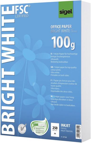 Office Papier BRIGHT WHITE, ultraweiß, 100 g/qm, A4, 250 Blatt