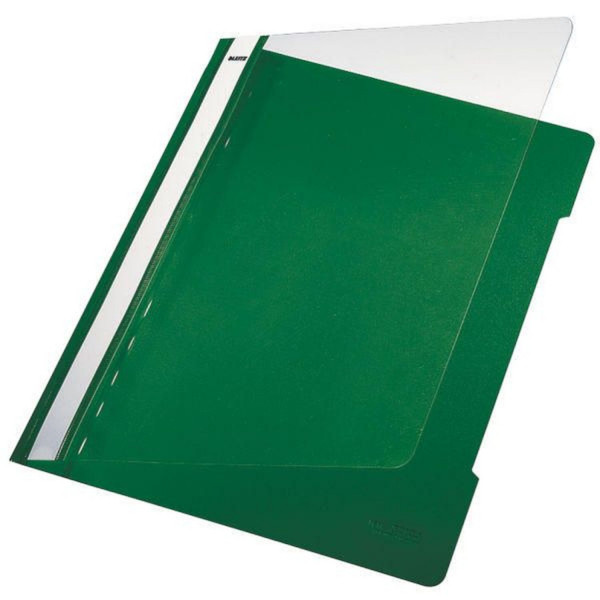 Leitz 4191 PVC Hefter grün Standard, A4, langes Beschriftungsfeld