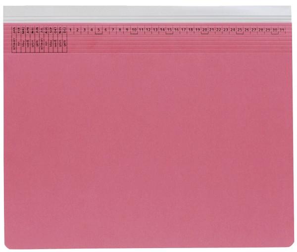 Kanzleihefter A gefalzt rot - Rechtsheftung (kaufmännische Heftung), 1 Tasche, 1 Abheftvorrichtung,