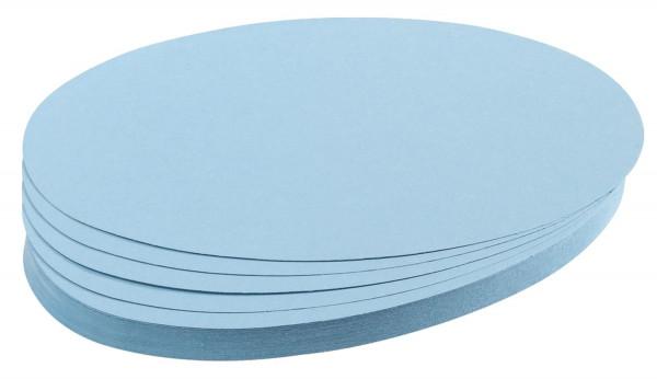 Moderationskarte, Oval, 190 x 110 mm, hellblau, 500 Stück