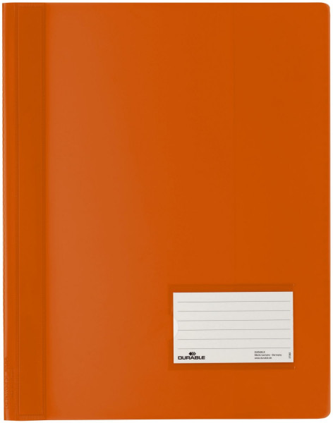 Schnellhefter DURALUX® - transluzente Folie, für A4 Überbreit, orange