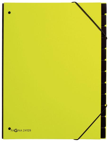 Pultordner Trend - 12 Fächer, Eckspanngummi, lindgrün