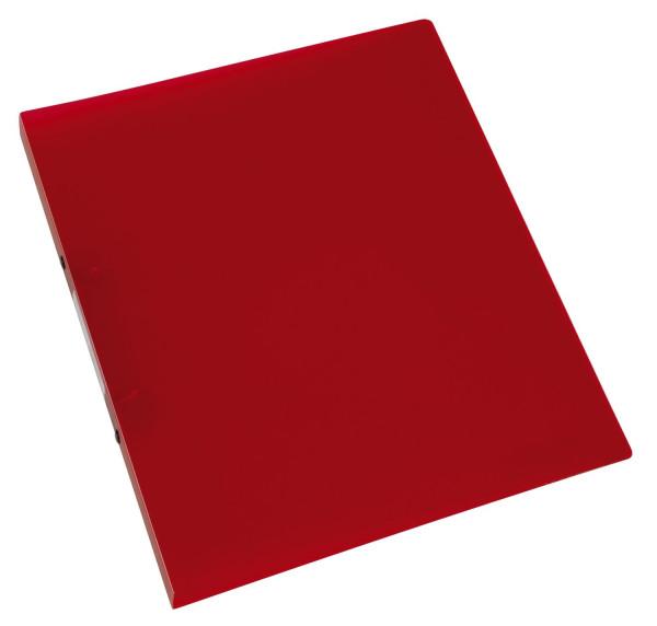Q-Connect Ringbuch rot-transparent - A4, 2-Ring, Ring-Ø 16 mm,