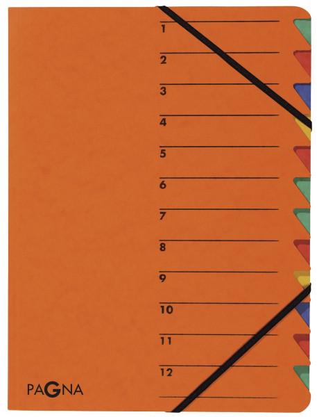 Ordnungsmappen EASY - mit 12 Fächern, orange