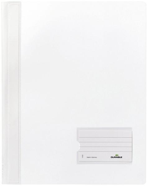 Schnellhefter DURALUX® - transluzente Folie, für A4 überbreit, weiß