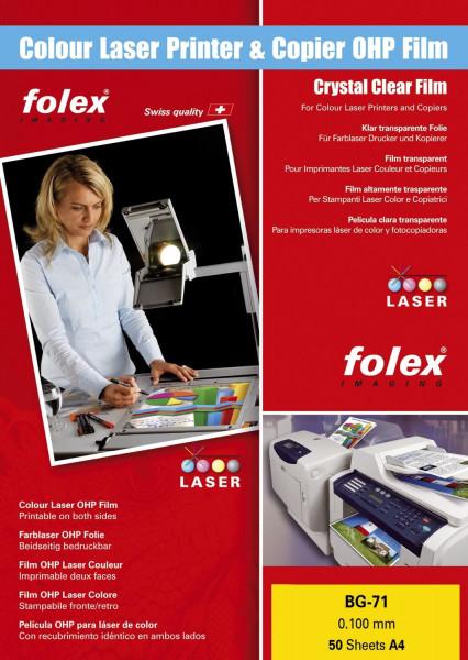 Universal OHP Folie für Farblaserdrucker/-kopierer - A4, 50 Folien