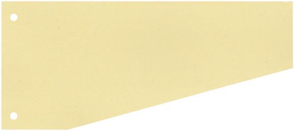 Trennstreifen Trapez - 190 g/qm Karton, gelb, 100 Stück