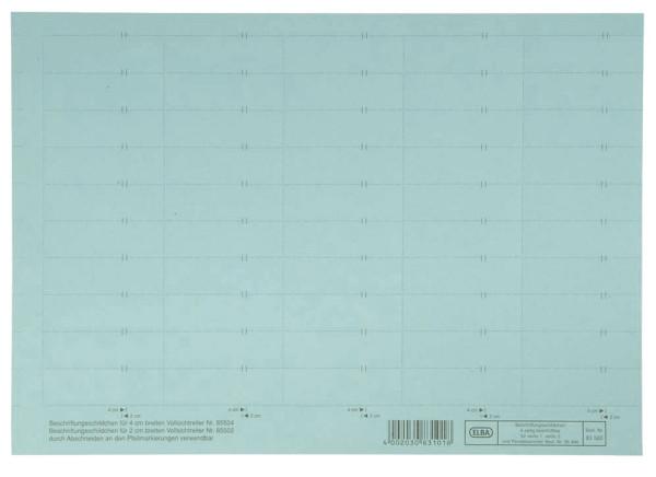vertic® Beschriftungsschild für Registratur, 58 x 18 mm, blau, 50 Stück