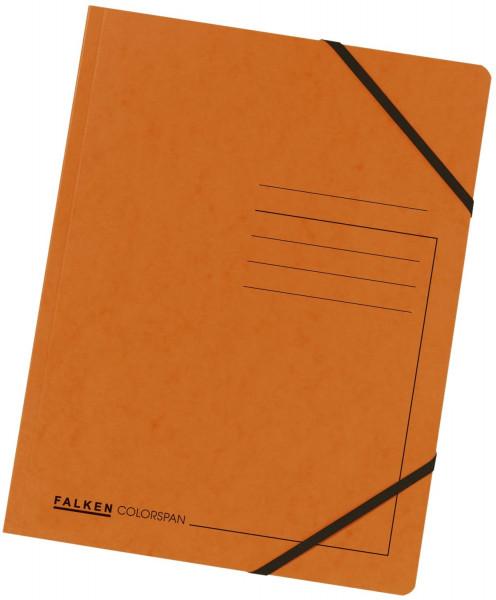 Falken Eckspanner A4 Colorspan intensiv orange, Karton 355 g/qm