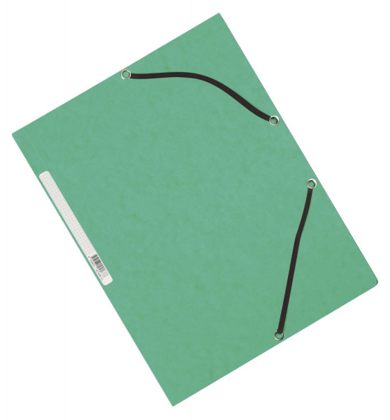 Q-Connect Eckspanner Karton A4 mit Gummizug grün