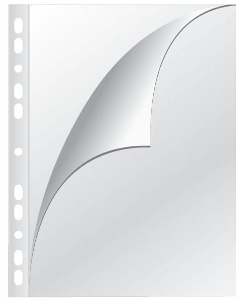 Q-Connect Prospekthülle A4 oben/links offen, 0,08 mm genarbt, 100 Stück