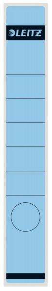 1648 Rückenschilder - Papier, lang/schmal, 10 Stück, blau