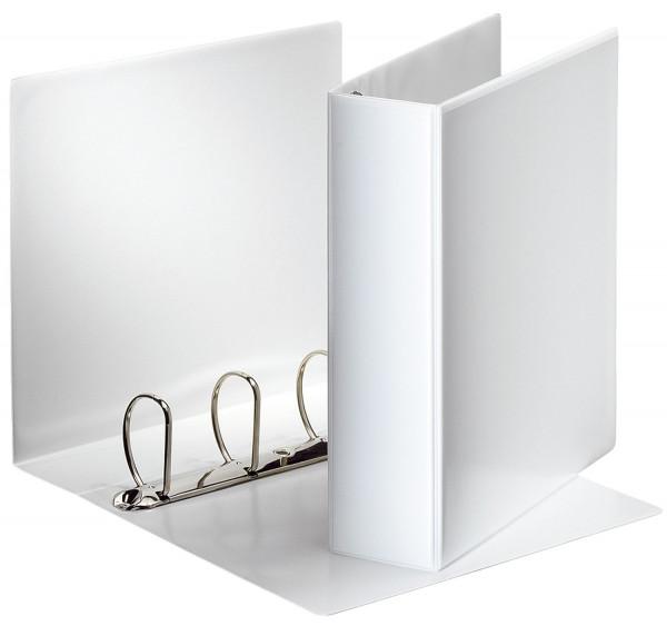 Ringbuch Präsentation, mit Taschen, A4, PP, 4 Ringe, 60 mm, weiß