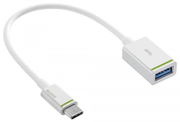 Daten-Ladeadapter USB-C auf USB-A(F) 3.1 Complete - 15 cm, weiß