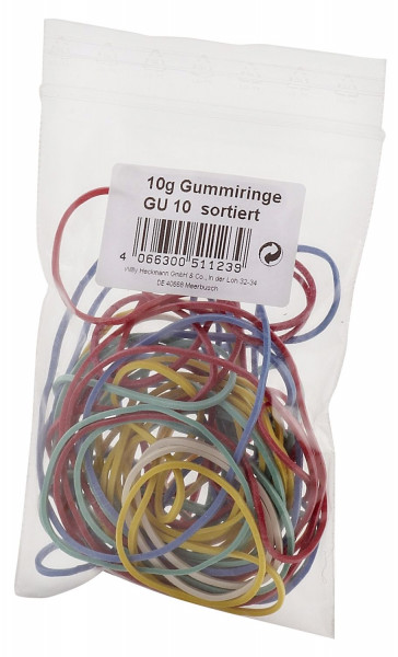 Wihedü Gummiringe - farbig sortiert, 10g