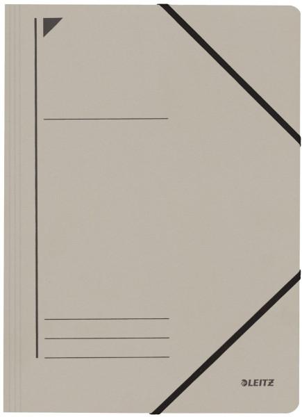 Leitz 3980 Eckspanner, grau, A4, Füllhöhe 250 Blatt, Pentarec-Karton