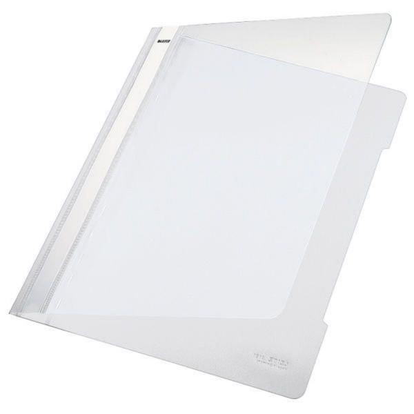 Leitz 4191 PVC Hefter weiß Standard, A4, langes Beschriftungsfeld