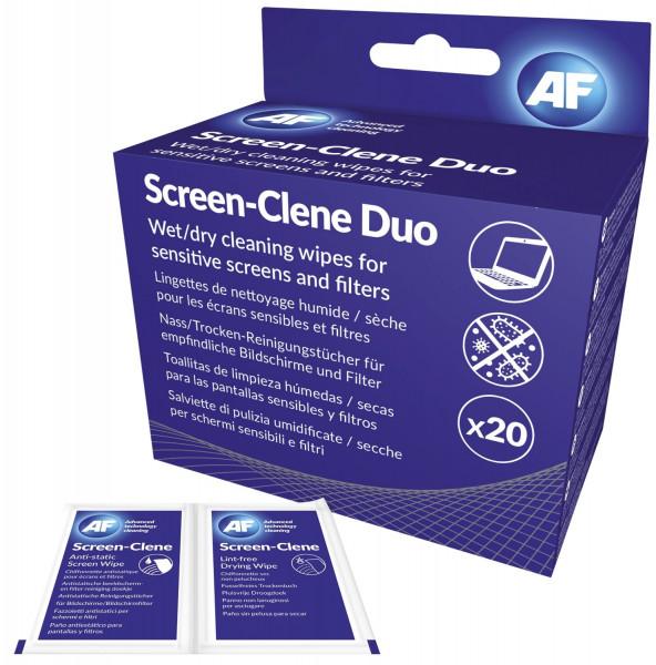 Screen-Clene - vorgetränkte und trockene Tücher