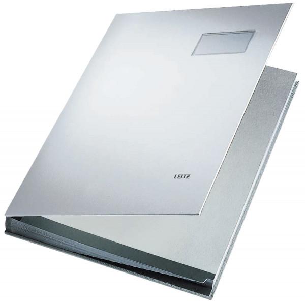 Leitz 5700 Unterschriftenmappe, grau, 20 Fächer, Überzug PP,