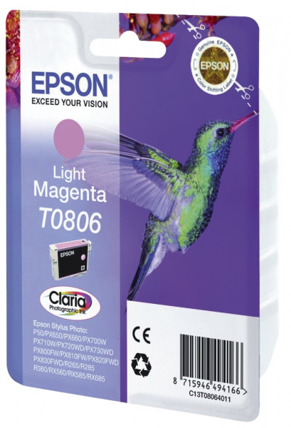 Epson T0806 Tintenpatrone magenta light, 220 Seiten, C13T08064011