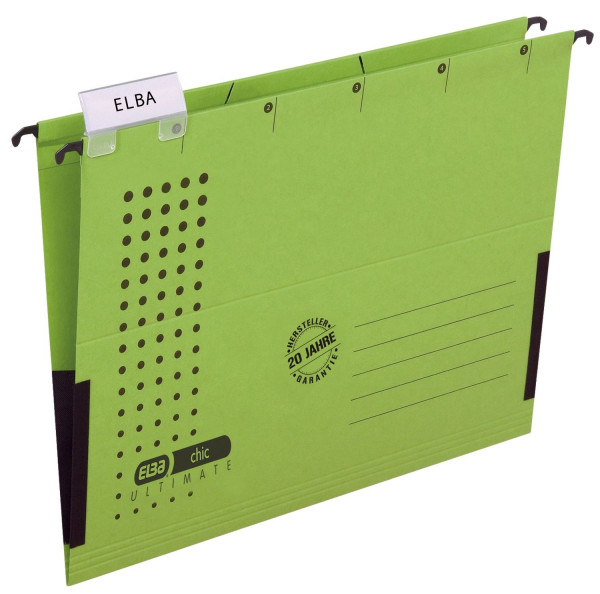 Elba Hängetasche chic ULTIMATE®, grün, Karton (RC), 230 g/qm, A4