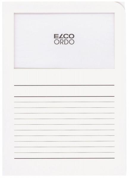 Elco Sichtmappen Ordo classico, mit Sichtfenster, weiß, 100 Stück