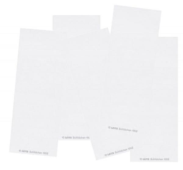 1902 Blanko-Schildchen, für ALPHA®, Karton, 100 Stück, weiß