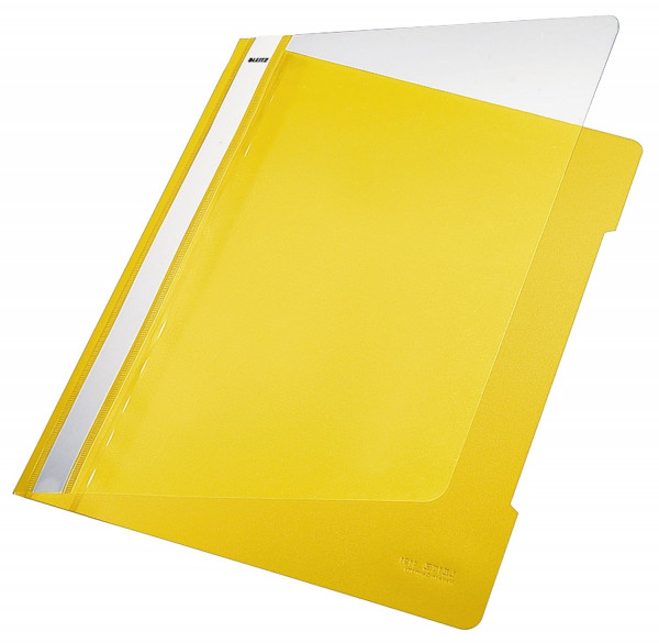 Leitz 4191 PVC Hefter gelb Standard, A4, langes Beschriftungsfeld