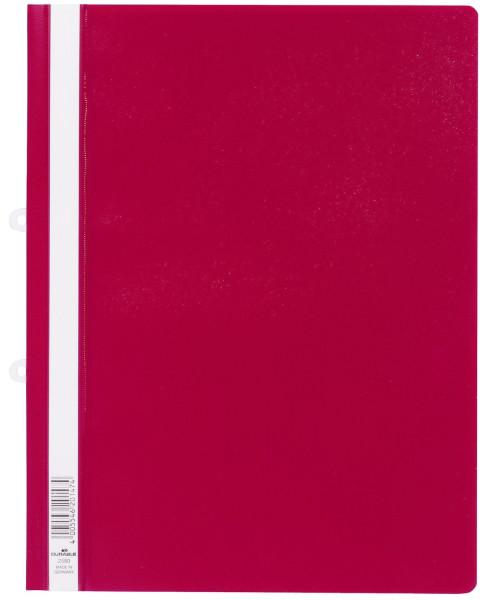 Durable 2580 Sichthefter rot mit Abheftschieber, A4, Hartfolie