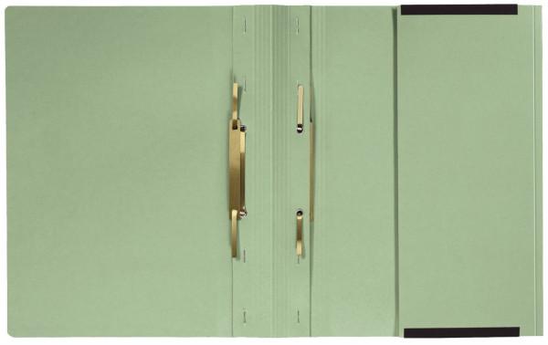 Kanzleihefter A gefalzt - Linksheftung (Behördenheftung), 1 Tasche, 2 Abheftvorrichtung, grün