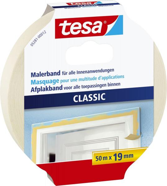 Papier-Klebeband Maler-Krepp Classic, 50 m x 19 mm, beige