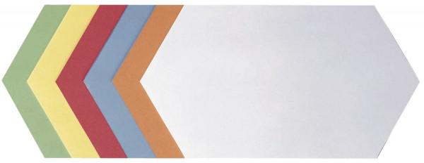 Moderationskarte Königswabe, 297 x 165 mm, sortiert, 500 Stück