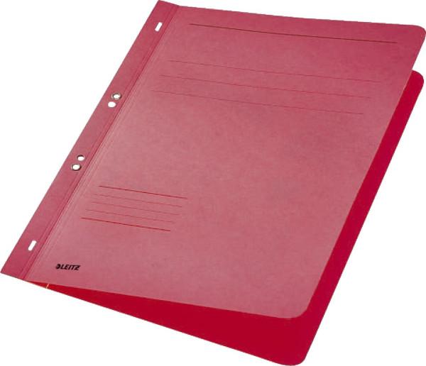 Leitz 3742 Ösenhefter, rot, ganzer Vorderdeckel, A4, kfm. oder Amtsheftung, Manilakarton,